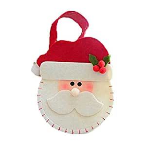 Flannelette snowman tote bags Christmas decorations small candy holiday gift bags