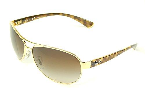 63mm Lens Gold Aviator Oversized Grad Sunglasses 001 Rb3386 13 Ban Ray brown New FPwv11