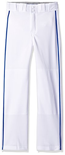 (EASTON RIVAL 2 Baseball Softball Pant | Youth | Medium | White Royal | 2020 | Double Reinforced Knee | Elastic Waistband w/ 2 Color Internal Easton Logo | 2 Batting Glove Pockets | 100% Polyester)