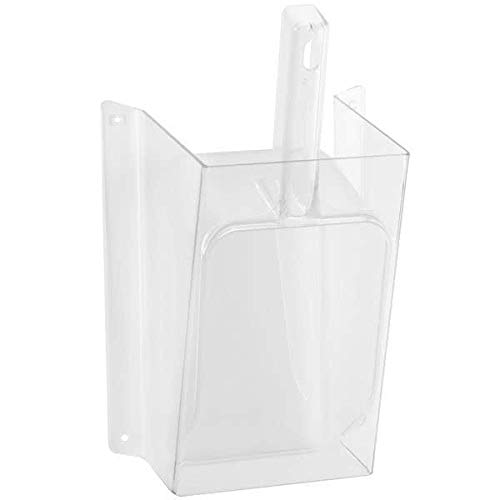 (Cal-Mil 1031-64 Wall-Mount Scoop Guard w/ 64-oz Scoop - Polycarbonate, Clear)