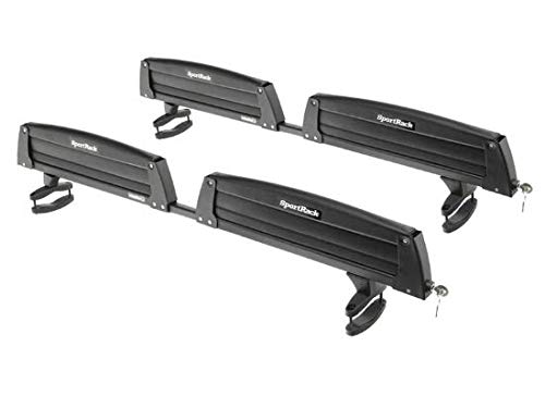 EAMR-SR6453 * SportRack Ski and Snowboard Carrier - Adjustable - Roof Mount - Locking - 8 Skis or 4 Snowboards