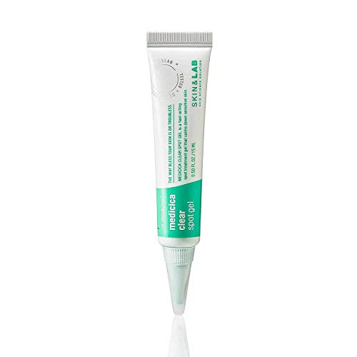 [SKIN&LAB] Medicica clear spot gel, calming, trouble spot treatment, sensitive, acne prone skin, 0.5 Fl oz