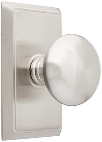 Providence Door Set with Round Brass Knobs Passage in Satin Nickel. Doorsets.