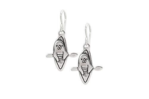 Sterling Silver Kayaking Seal Earrings