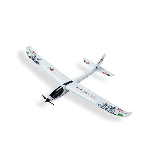 WL XK-A800 EPO 5CH Glider Wingspan, Auvem Fixed Wing 780mm Remote Control Airplane Flying Toy Drone, 3D/6G switchable System (White)