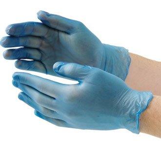 Winware blau Vinyl Handschuhe