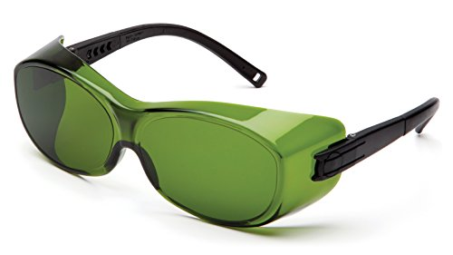 Pyramex S3560SFJ OTS Over Prescription Welding Safety Glasses, 3.0 IR Filter Lens, Black