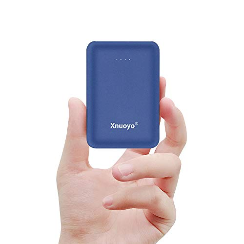 Xnuoyo Mini Power Banks 10000mAh Portable Charger Ultra Compact Power Bank with Dual Input and Output External Battery Pack Compatible with Most Smart Phones(Blue)