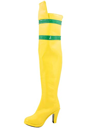 GOTEDDY Women's Rogue Cosplay Shoes Yellow Costume Boots (8 M US Female) -