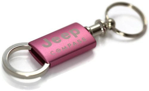 Jeep Compass Pink Valet Key Fob Authentic Logo Key Chain Key Ring Keytag Lanyard