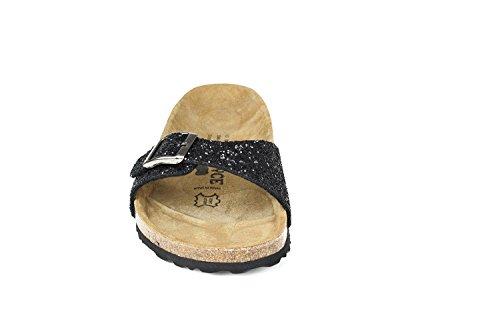 JOE N JOYCE Porto Synsoft Soft-Fußbett Sandalen Black Größe 37 Schmal io5UQLT8
