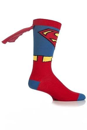 Cartoon Heroes Boys' 1 Pair SockShop Superman Cape Socks 10-13 Multicolored