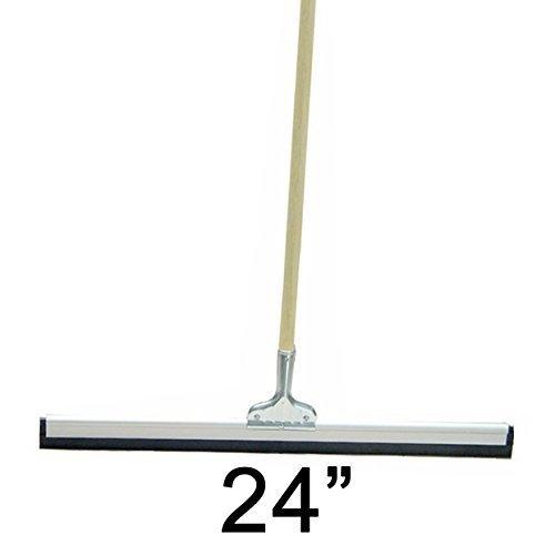 24'' Floor Squeegee Straight Wood Handle Scratch Resistant Squeegee