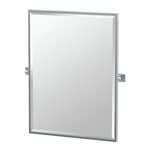 Gatco 4059FS Elevate Framed Rectangle Mirror, Chrome, 32.5
