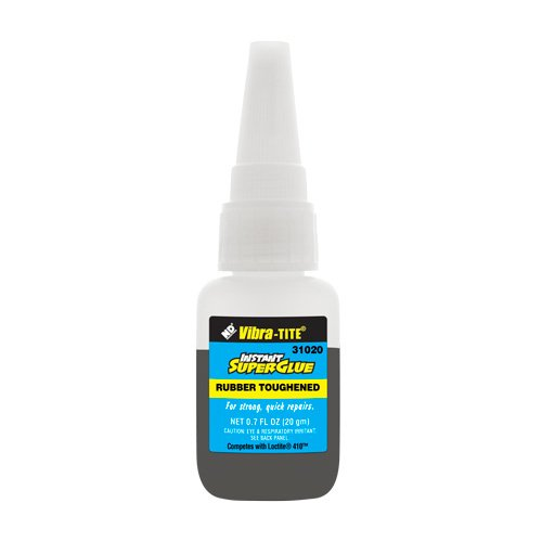 Vibra-TITE 310 Toughened Superglue: Gap Filling Black - 20 gm bottle