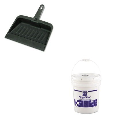 KITFKLF330125RCP2005CHA - Value Kit - Franklin Ultra-Fast Acrylic Floor Finish (FKLF330125) and Rubbermaid-Chrome Heavy Duty Dust Pan (RCP2005CHA) by Franklin