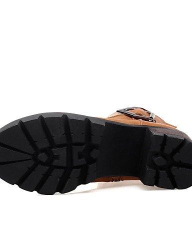 Moda Robusto 5 us6 De Cn3 7 Uk4 5 Xzz Zapatos Uk4 Botas Eu37 Eu36 Vestido Punta La Mujer Redonda Semicuero Vellón Marrón Tacón 5 Cn36 negro us6 Brown Cn37 A Brown Casual qIqvBU4