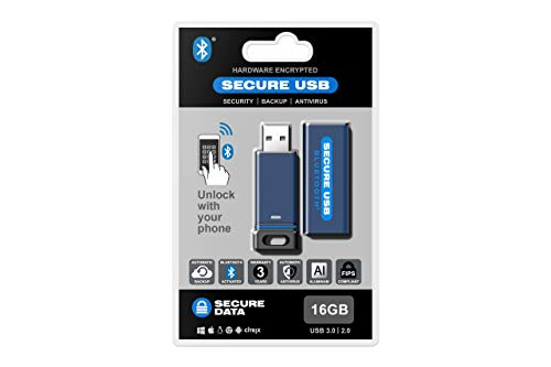 SecureData 16GB SecureUSB BT Encrypted Flash Drive with Wireless Authentication