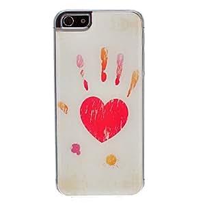 GX Amor en tus Manos patrón epoxi duro caso para iPhone 5/5S