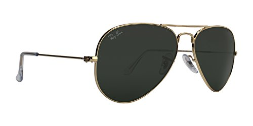 Ray-Ban AVIATOR LARGE METAL - GOLD Frame GREY GREEN Lenses 55mm - Ban Frame Only Aviator Ray