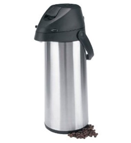 Trudeau Alpha 1.9-Liter Stainless Steel Pump Pot, Satin Finish (Steel Mug Trudeau Stainless)