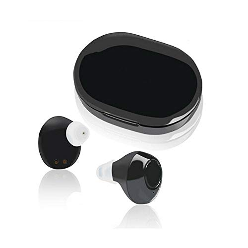 Rechargeable Small in Ear Hearing Aids Adjustable Tone Sound Amplifier Portable Digital Hearing Assist USB FDA ()