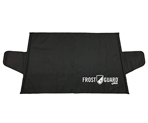 FrostGuard Plus   Premium Winter Windshield Cover with Dual Security Panels, Protects Essential Viewing Area from Snow, Ice and Frost. Fits Most Cars, and Small SUVs