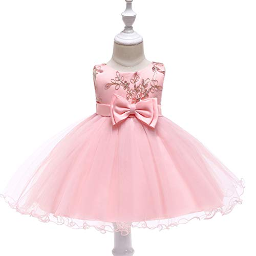Cinderella Dress Princess Costume Halloween Party Dress up(Pink,18M/80CM) -