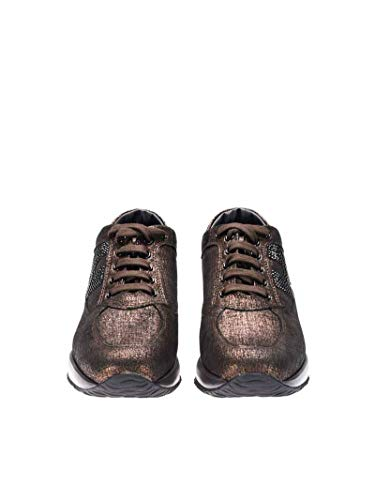 Hogan Hxw00n02010h1t2679 Black Sneakers Suede Brown Women's wYnYqgxrR