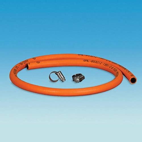 Coverandcarry Gasschlauch 8 Mm Für Lpg Butan Propan Meterware Mit Clips Orange Auto