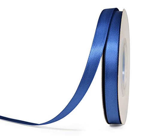 YAMA Double Face Satin Ribbon - 3/8 Inch 25 Yards for Gift Wrapping Ribbons Decorations DIY Crafts Arts, Royal Blue