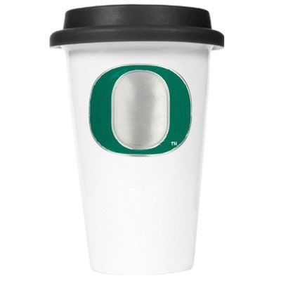 NCAA Oregon Ducks 12-Ounce Double Wall Tumbler with Silicone Lid Arkansas 12 Ounce Tumbler