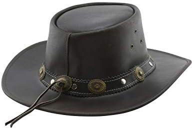 Dallas Hats Cowboyhut brauner Strohhut Outback Gr XL S