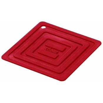 Amazon Com Lodge As6s41 Silicone Square Pot Holder Red