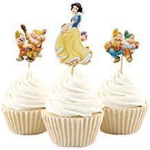 Snow White and the Seven Dwarves Cupcake Toppers Birthday Party (Pack of 24) ()
