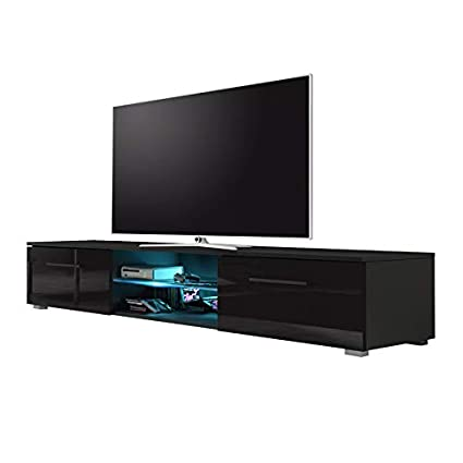 Selsey Edith Tv Stand Modern Tv Cabinet 140cm Matte Black
