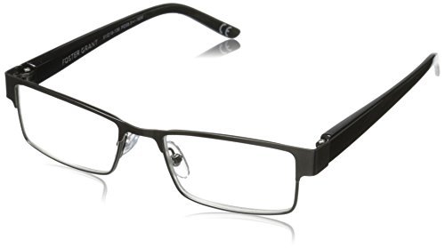 Foster Grant Mens Chip Polarizedsquarereaders   Gunmetal  2