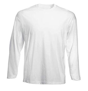 T-Shirt por los Hombre Manga Larga Blanca GEN0660 I Heart Cowboy Boots: Amazon.es: Ropa y accesorios