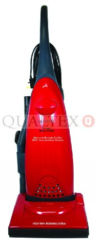 HEPA UPRIGHT VACUUM CLEANER  BAGGED 1600W - BURGUNDY RED