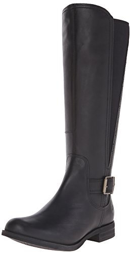 Timberland High Boots Knee - Timberland Women's Savin Hill Medium Shaft Tall Boot, Black Smooth, 7.5 M US