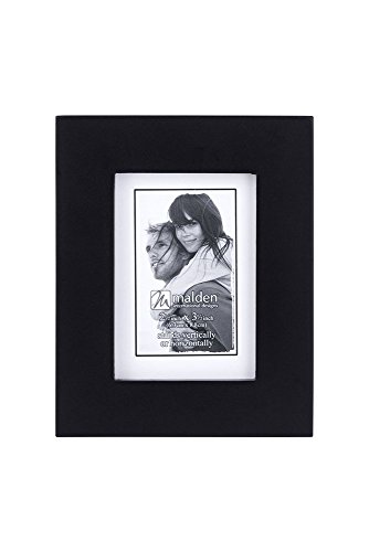 Malden 2x3 Picture Frame - Wide Real Wood Modling, Real Glass - Black -