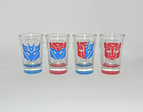 Transformers shot glass set of 4