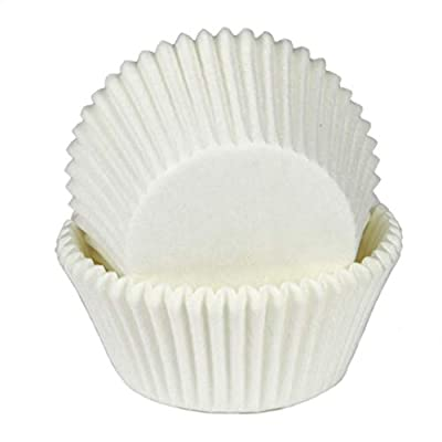 Chef Craft 21875 Parchment Paper Cupcake Liners, One Size, White: Kitchen & Dining