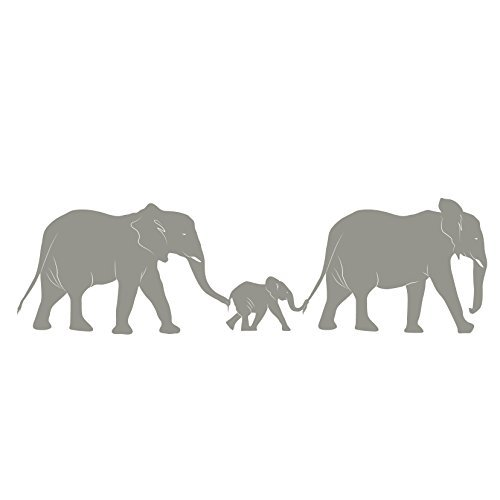- Elephant Train Family - Small - Vinyl Wall Art Decal for Homes, Offices, Kids Rooms, Nurseries, Schools, High Schools, Colleges, Universities, Interior Designers, Architects, Remodelers