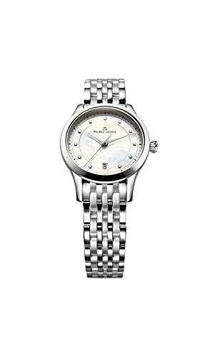 Maurice Lacroix Lc1026-Ss002-170 Women's Les Classiques Diamond Stainless Steel Mother Of Pearl Dial Ss Watch (Dial Ss Pearl)