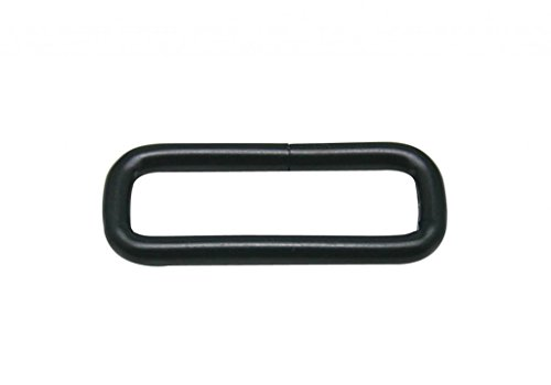 Generic Metal Black Rectangle Buckle 1.55