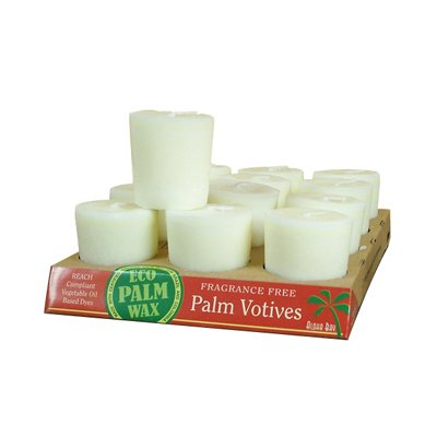 Aloha Bay Candle Votive Essential Oil Unscented White - 12 Candles - Case of 12 by Aloha Bay