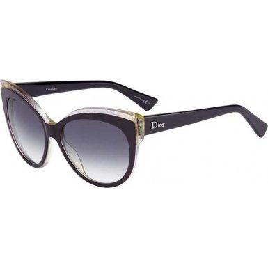 Dior Sunglasses GLISTEN 1/S 0ELUDG Purple Pink Glitter - Sunglasses Purple Dior