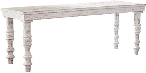 Veneer Furniture Ensembles (Signature Design by Ashley A3000159 Dannerville Accent Bench White)