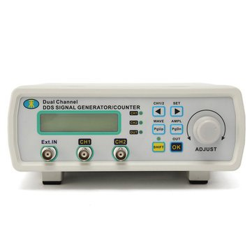 Signal Source Generator - Dual Channel Signal Generator - MHS-5200A 25MHz Digital DDS Dual-channel Signal Generator Source Frequency Meter 13N2 ( Digital Signal Generator )
